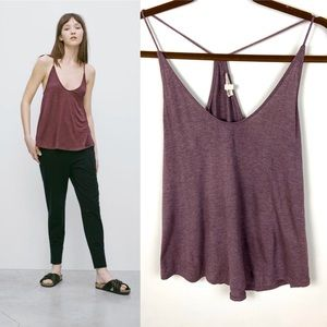 Aritzia Wilfred Free Moffet Tank Purple Size Small